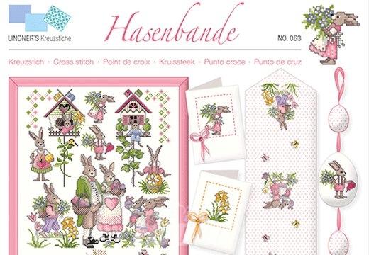 Stickvorlage Kreuzstich von Lindner´s Kreuzstiche Nr.063 Hasenbande