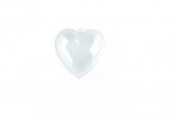 Plastik - Herz, teilbar,  6 cm