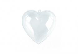 Plastik - Herz, teilbar,  8 cm
