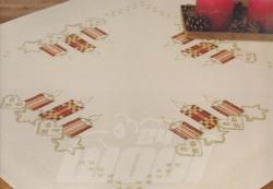 Stickpackung: Mitteldecke Kerzen vorgezeichnet