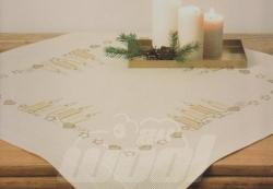 Stickpackung: Mitteldecke Kerzen hell vorgezeichnet