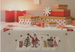Stickpackung: Mitteldecke Weihnachtsmann